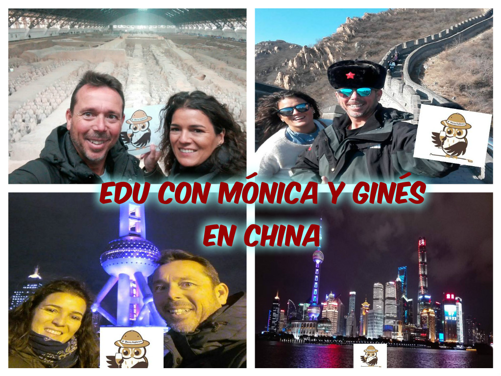 ¡EDU por el mundo: en China Mónica y Ginés!/EDU traveling the world:  in China with Mónica and Ginés