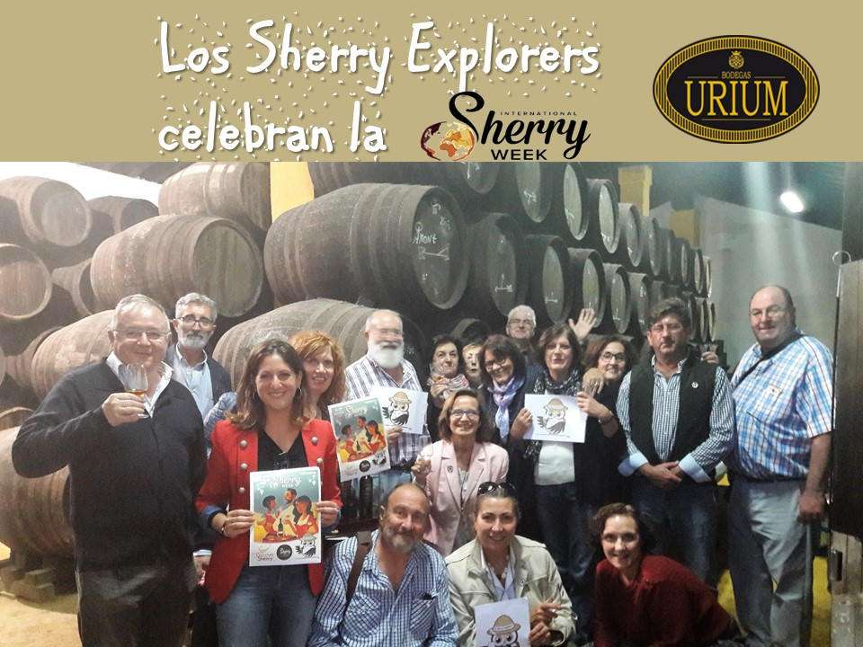 Bodegas Urium y los Sherry Explorers celebran la International Sherry Week/The Urium Winery and the Sherry Explorers celebrate International Sherry Week