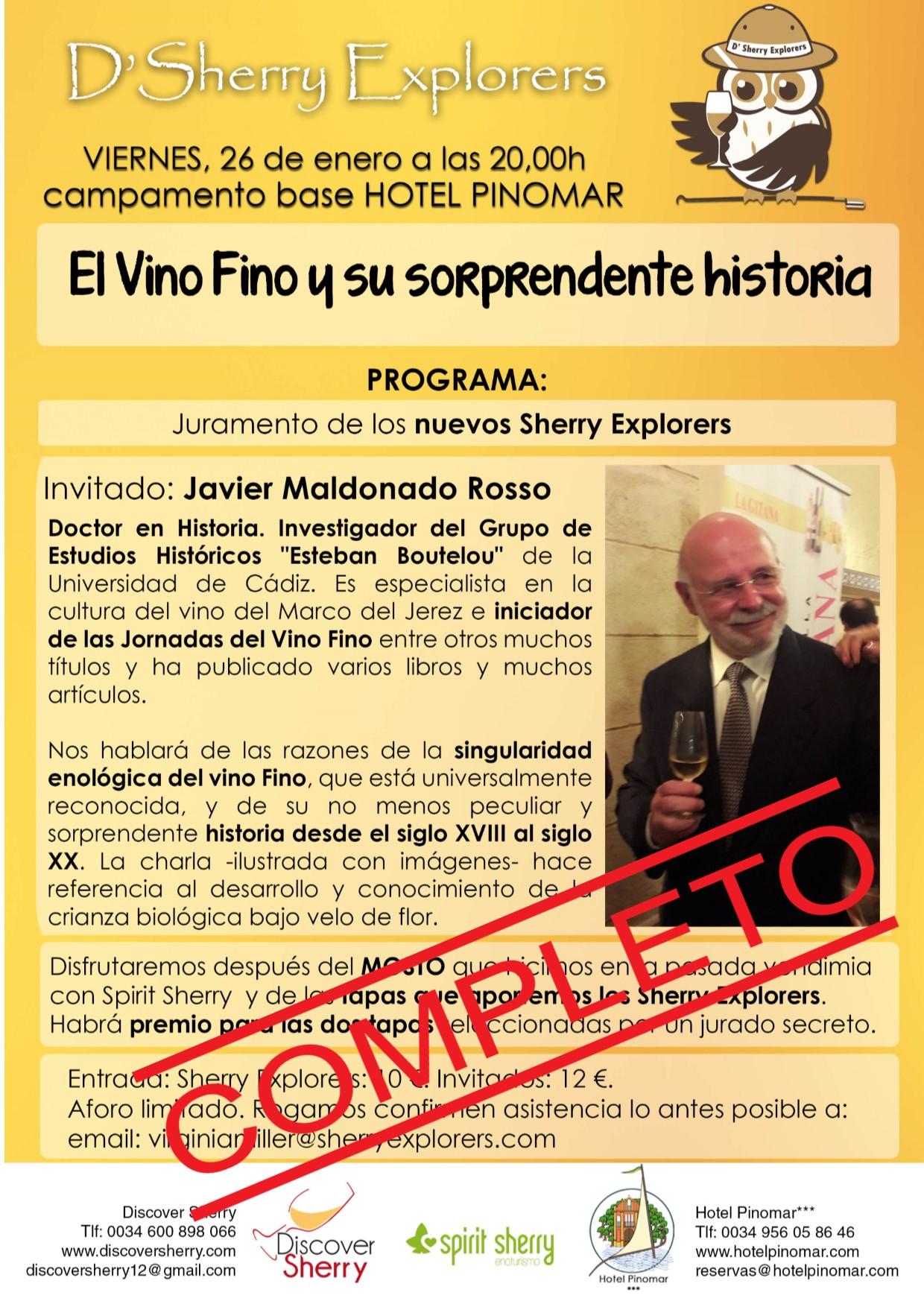 COMPLETO el aforo de la próxima reunión de los Sherry Explorers(Spanish)