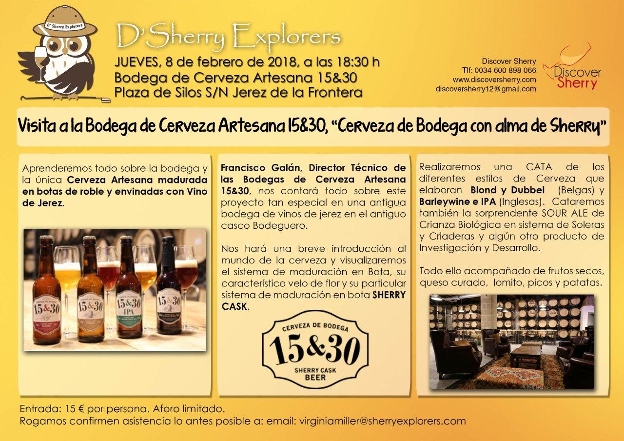 Próxima visita: Bodega de Cerveza Artesana 15-30(Spanish)