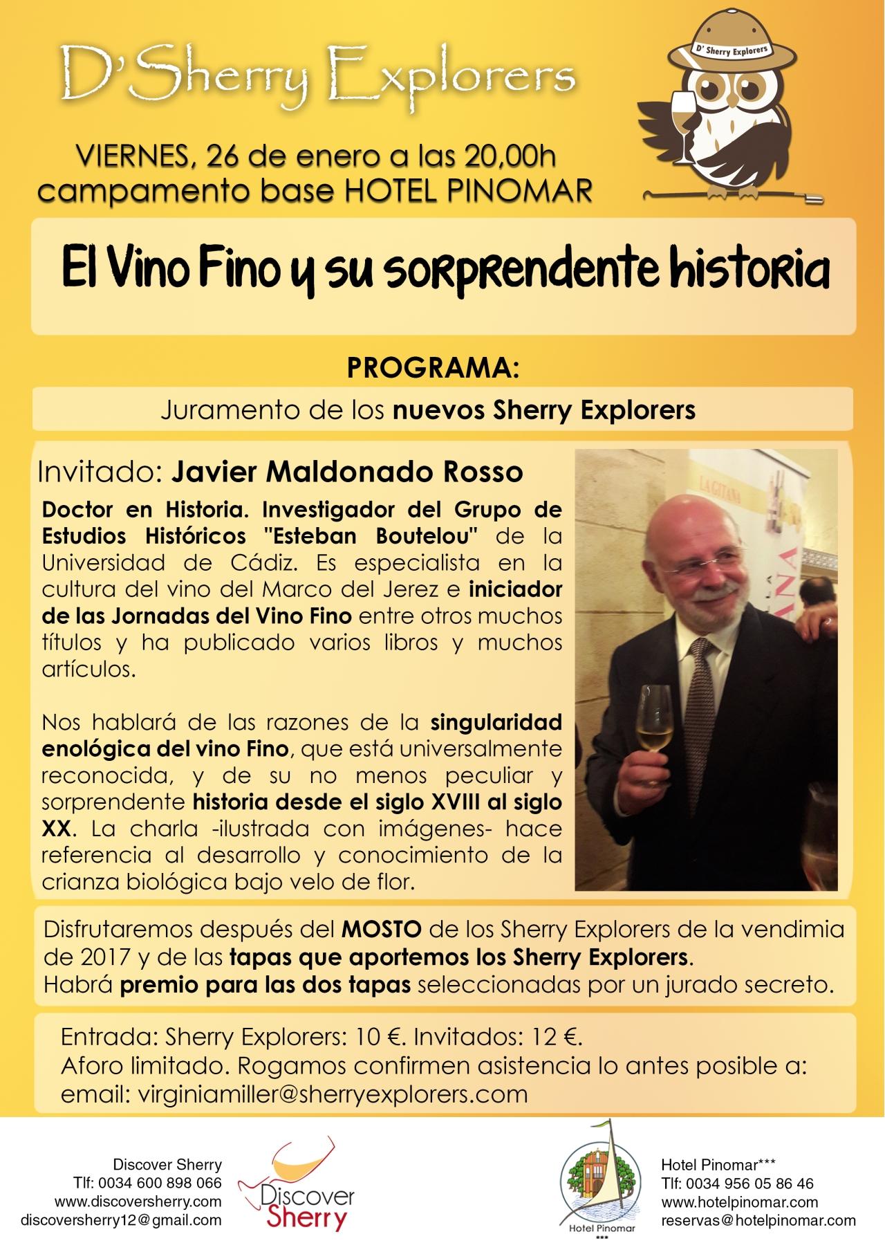 Próximo invitado de los Sherry Explorers: Javier Maldonado Rosso(Spanish)