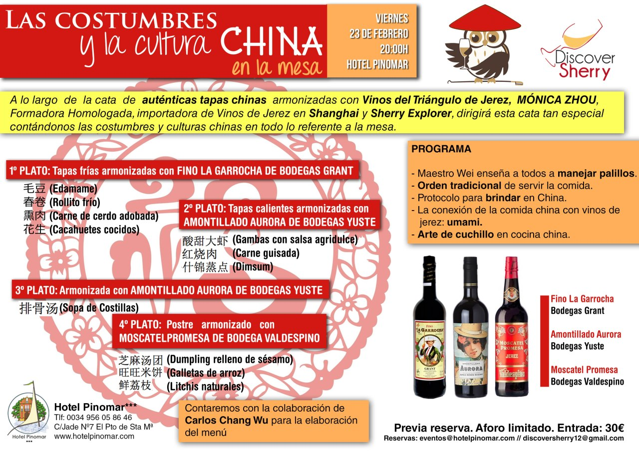 Cata Discover Sherry: China-Jerez / Discover Sherry Tasting: China-Sherry Wines