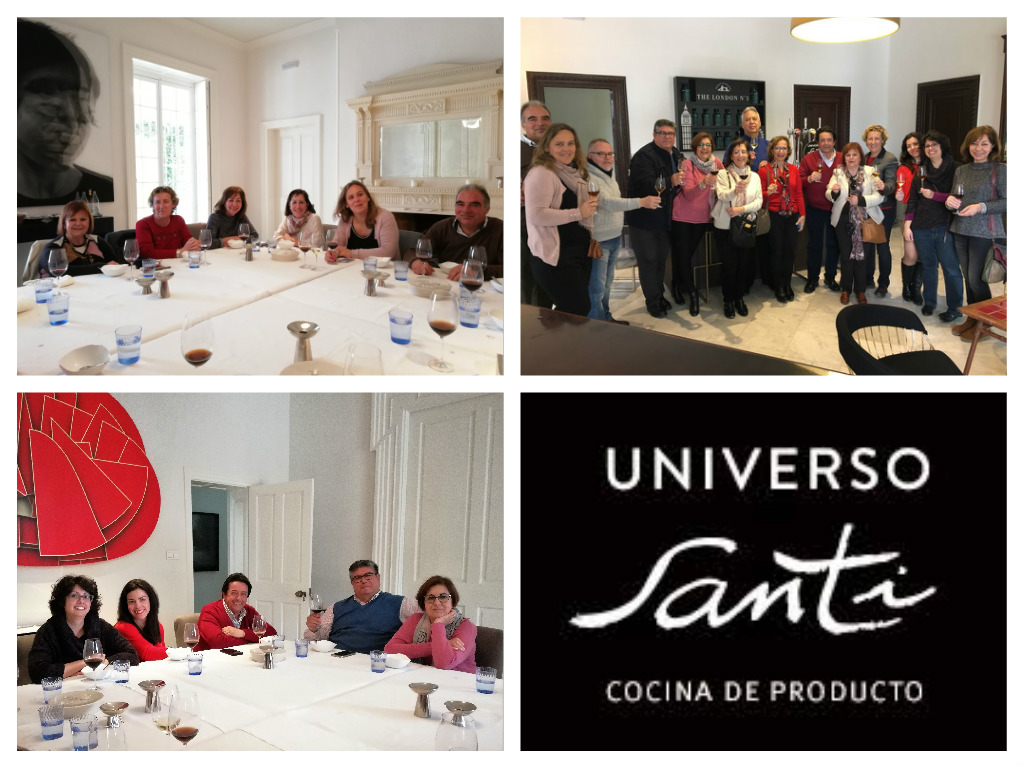 Un buen rato de los Enogastroblogueros en Universo Santi/  A wonderful afternoon for the Food&Wine bloggers at Universo Santi