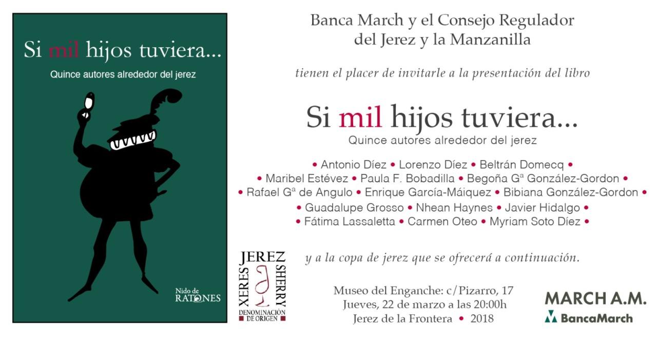 Si mil hijos tuviera… Invitación para los Sherry Explorers(Spanish)