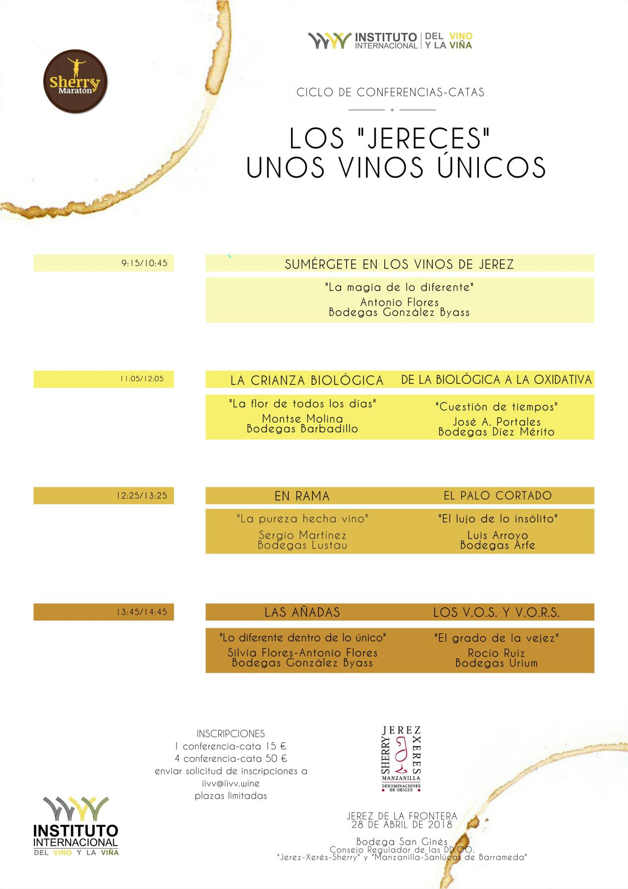 "Discover Sherry recommends: Conferencias Los ""Jereces"" Unos Vinos Únicos. (Spanish)"