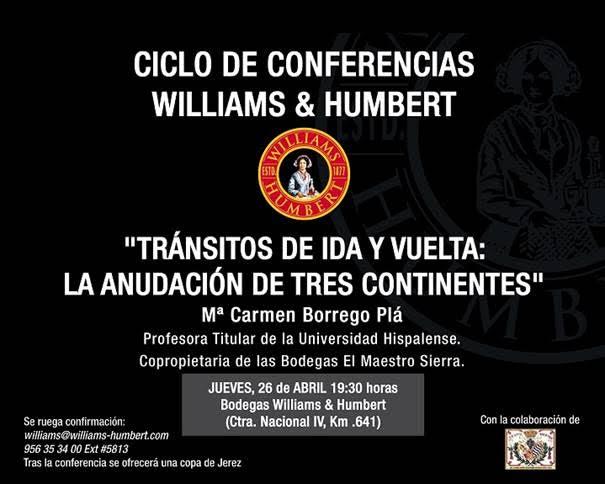 Discover Sherry recommends: Conferencia de la Dra. Mª Carmen Borrego Pla(Spanish)