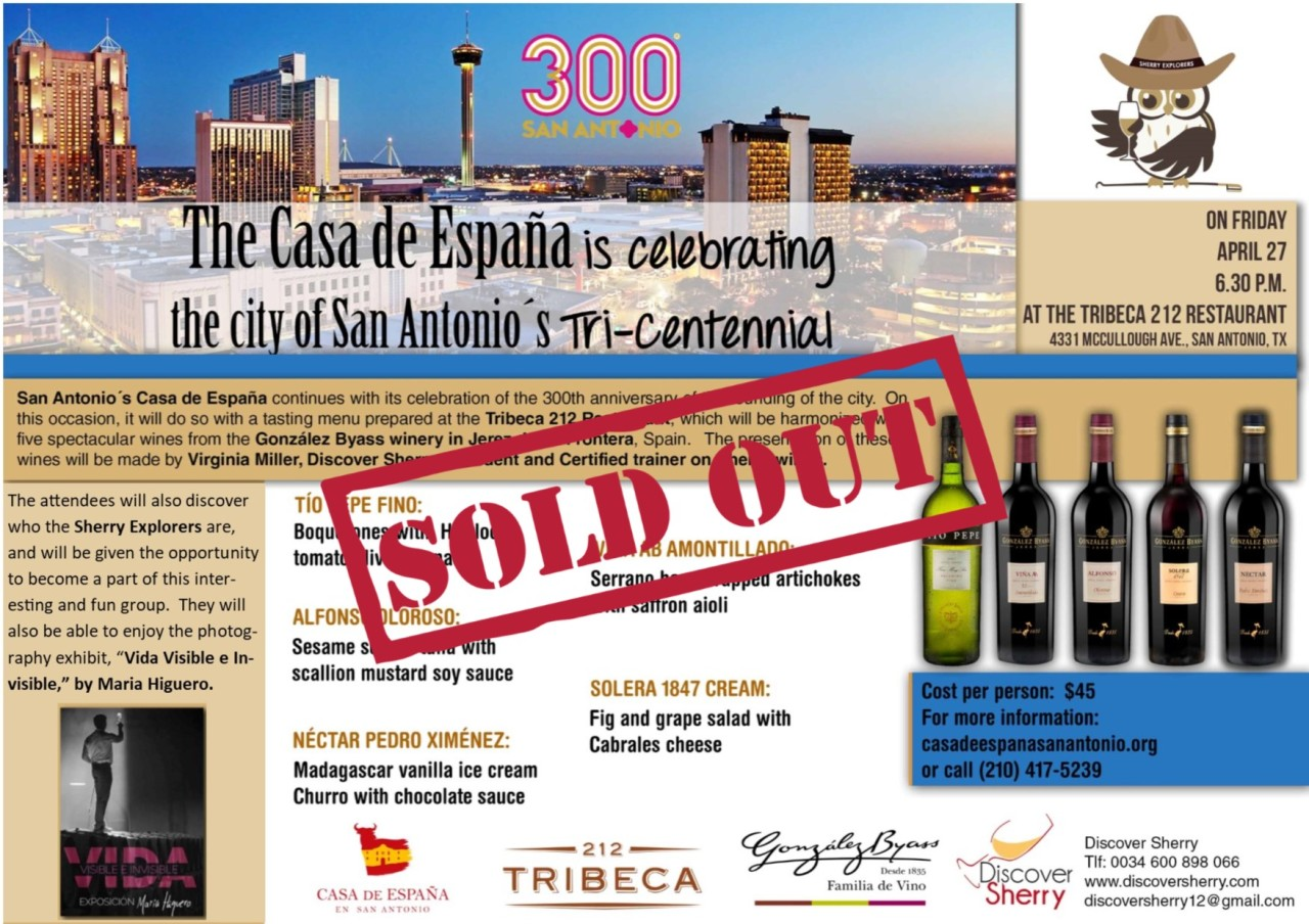 Cata de jereces en San Antonio: COMPLETA / Sherry Tasting in San Antonio: SOLD OUT