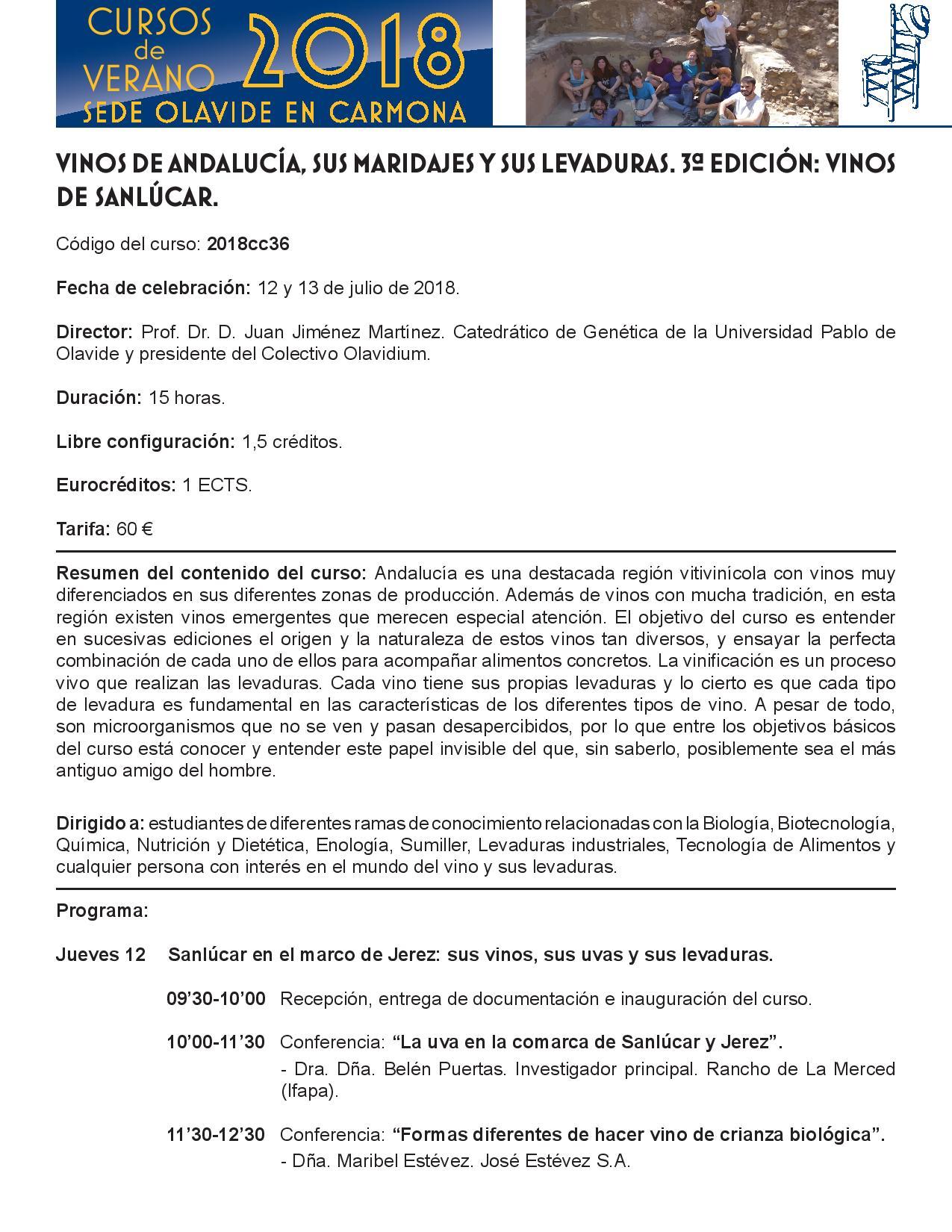 Universidad Pablo Olavide: Vinos de Sanlúcar(Spanish)