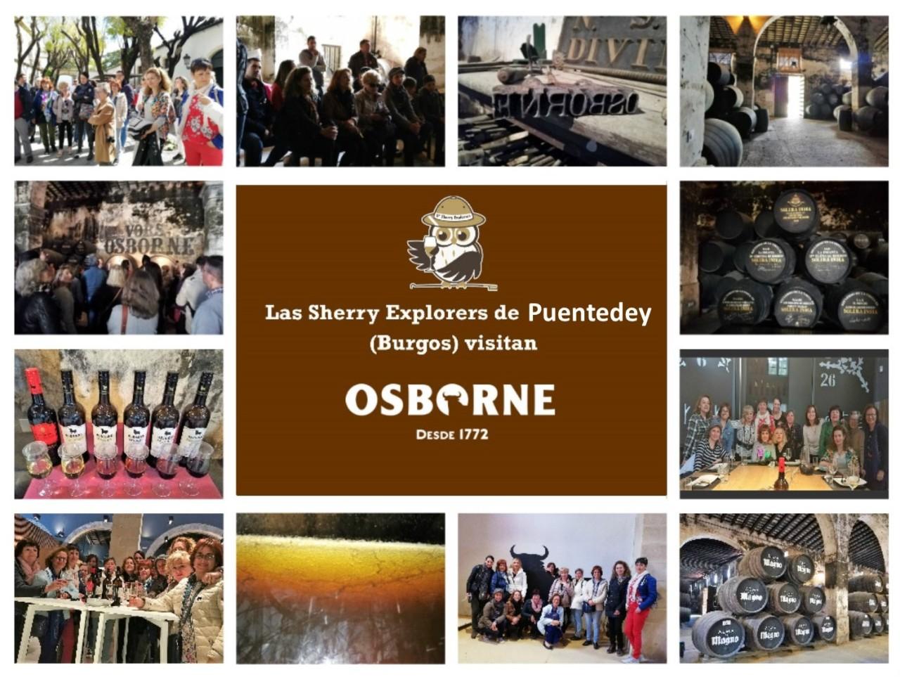 Las Sherry Explorers de Puentedey visitan Bodegas Osborne/The Puente Dei Sherry Explorers visit the OsborneWinery