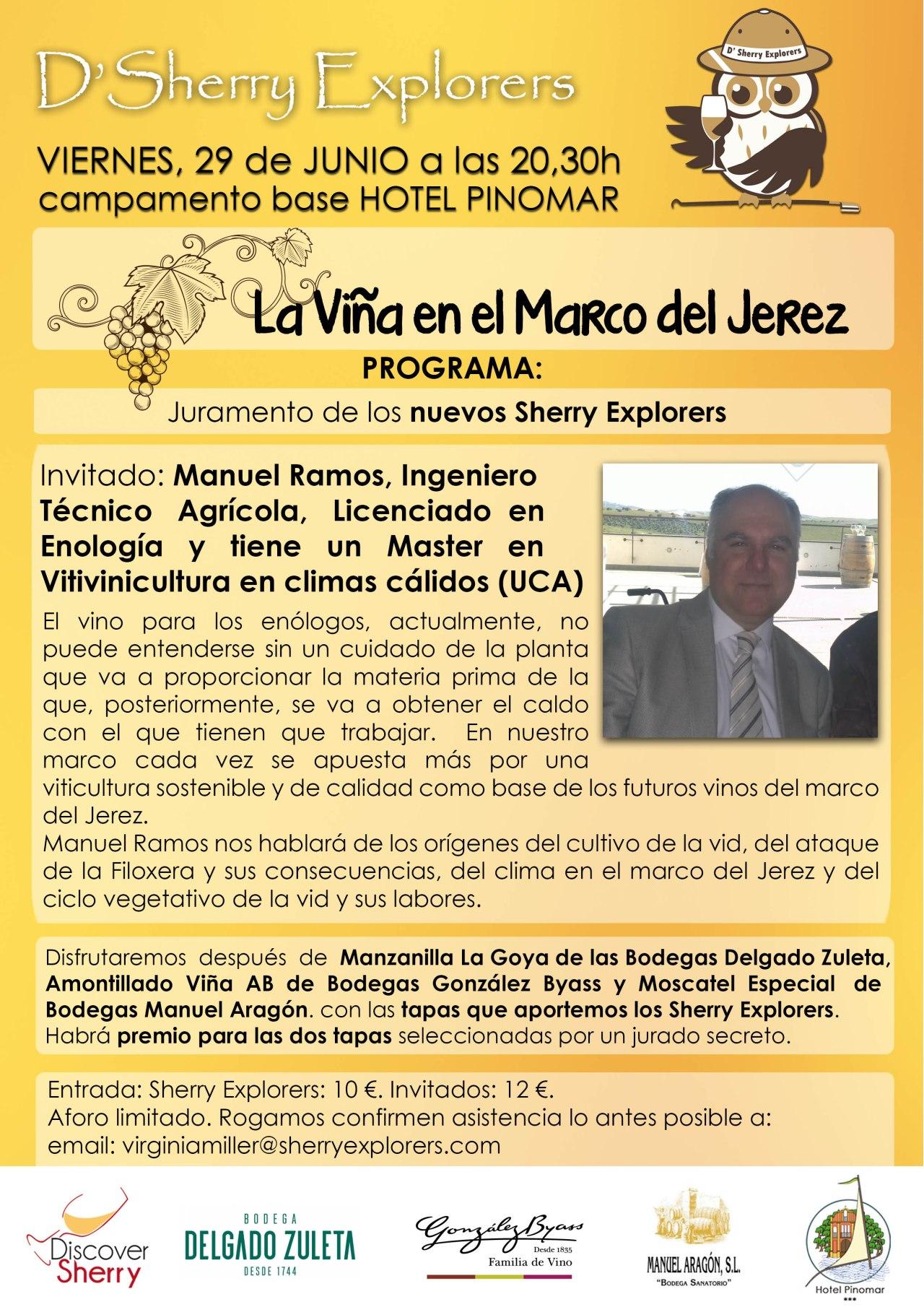 próxima reunión de los Sherry Explorers: La Viña en el Marco del Jerez(Spanish)