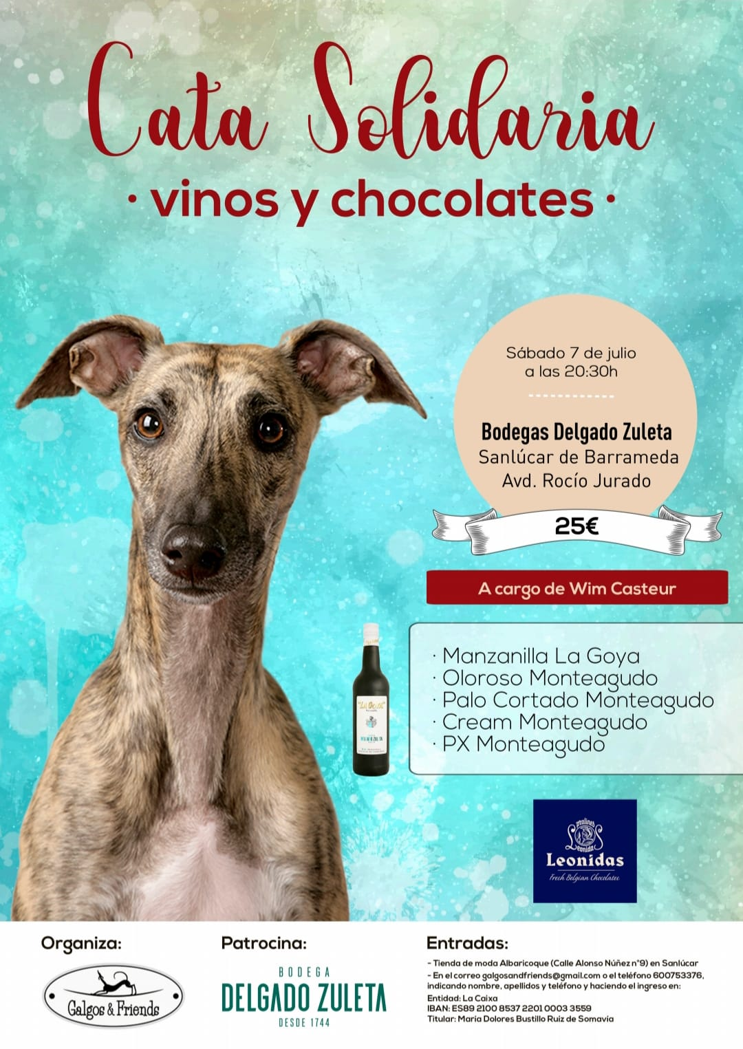 Discover Sherry recommends: Cata Solidaria Galgos and Friends (Spanish)