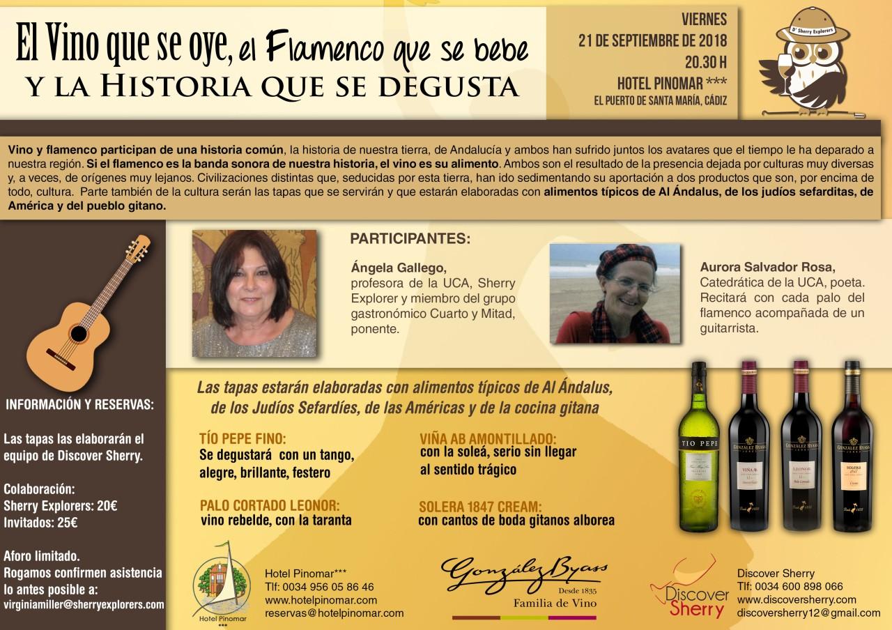 El Vino que se oye, el Flamenco que se bebe……. (Spanish)