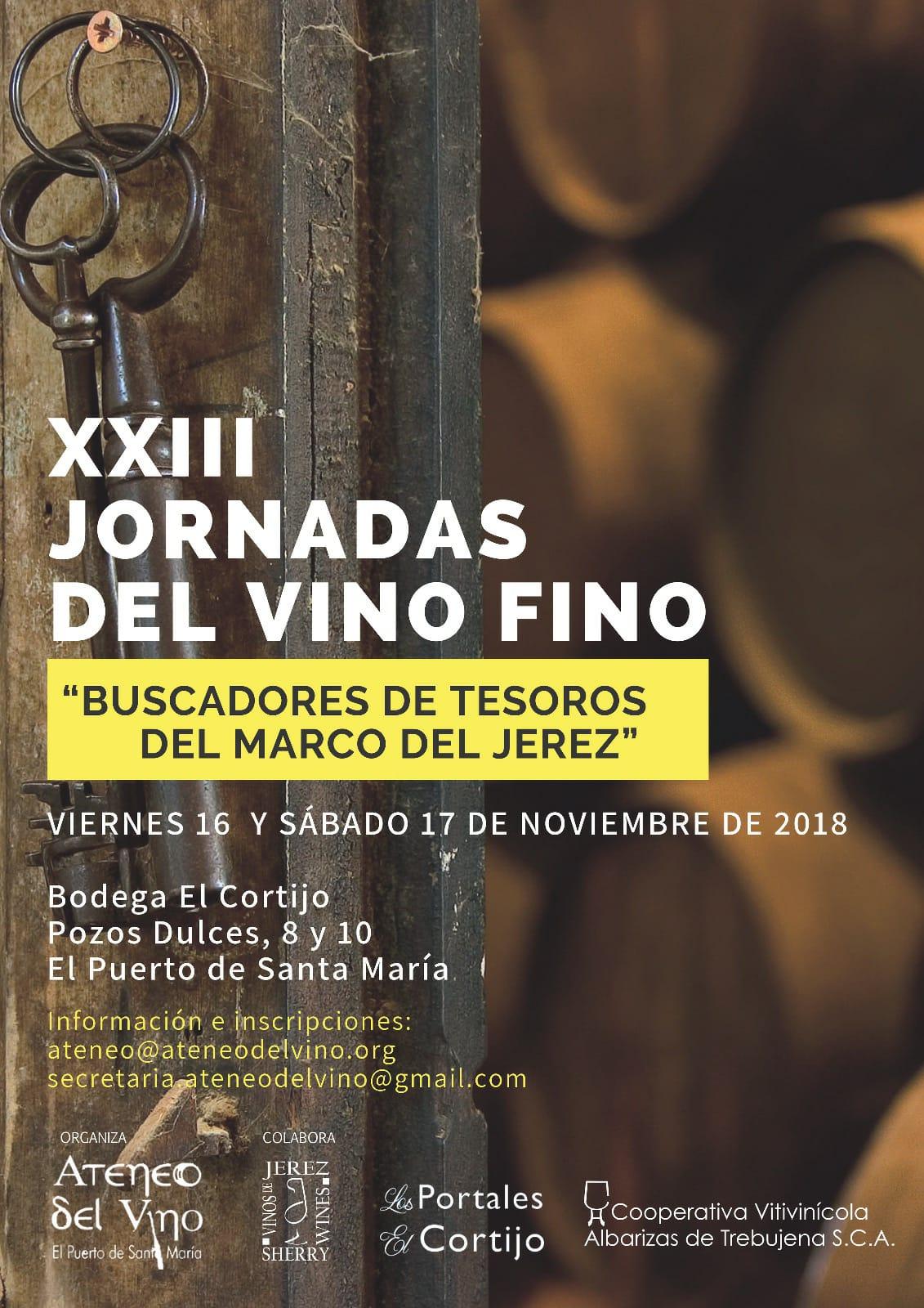XXIII Jornadas del Vino Fino, El Puerto de Santa María(Spanish)