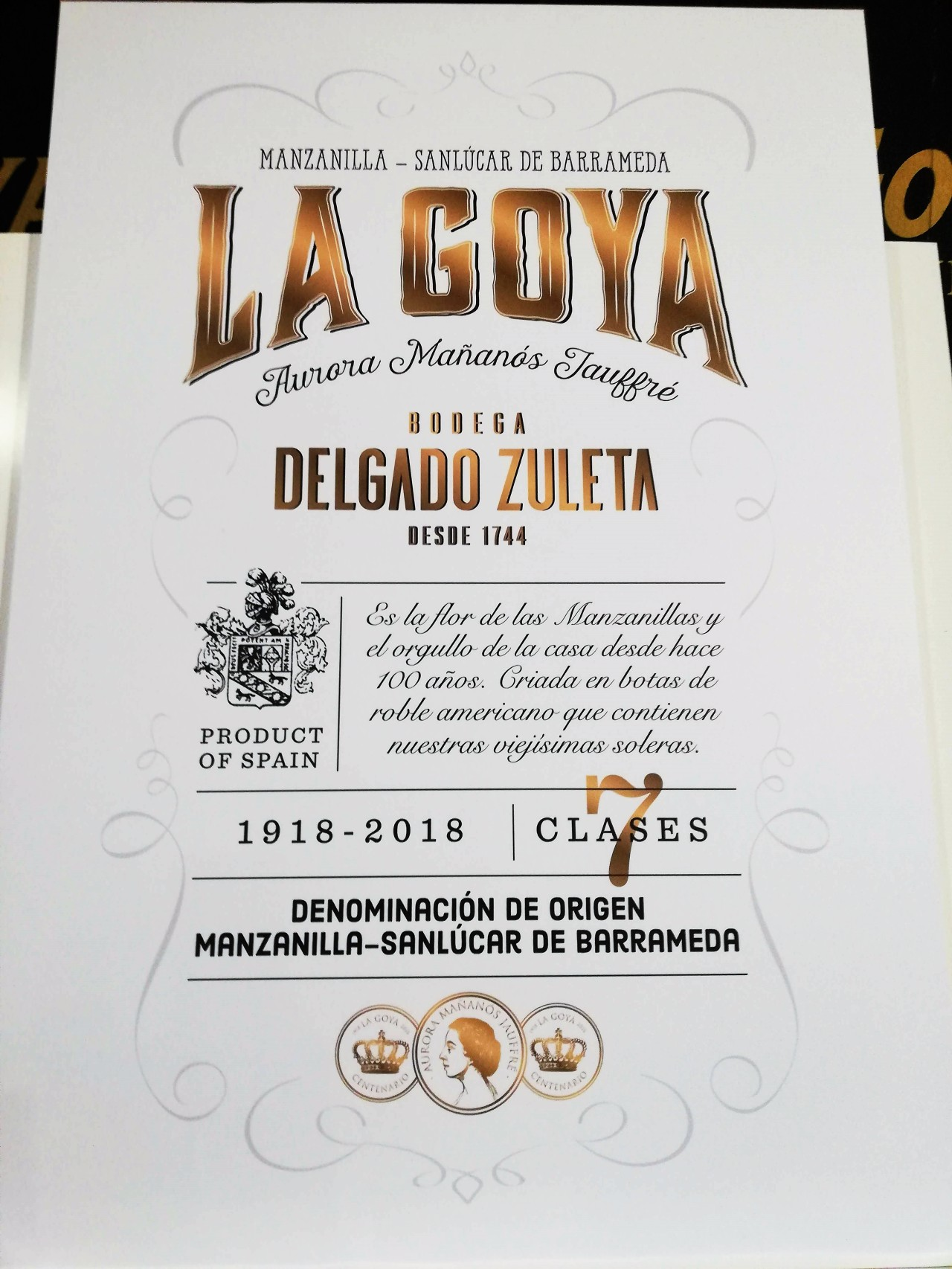 ¡Cien años de la Manzanilla La Goya y nueva etiqueta! /Manzanilla La Goya celebrates its 100th birthday and its new label!