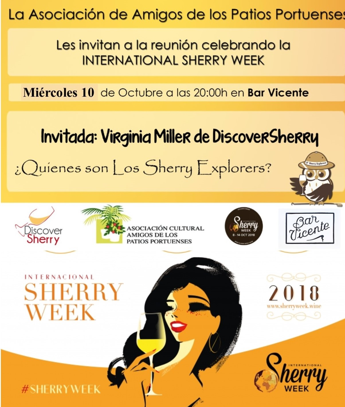 International Sherry Week 2018: conoce a los Sherry Explorers!!