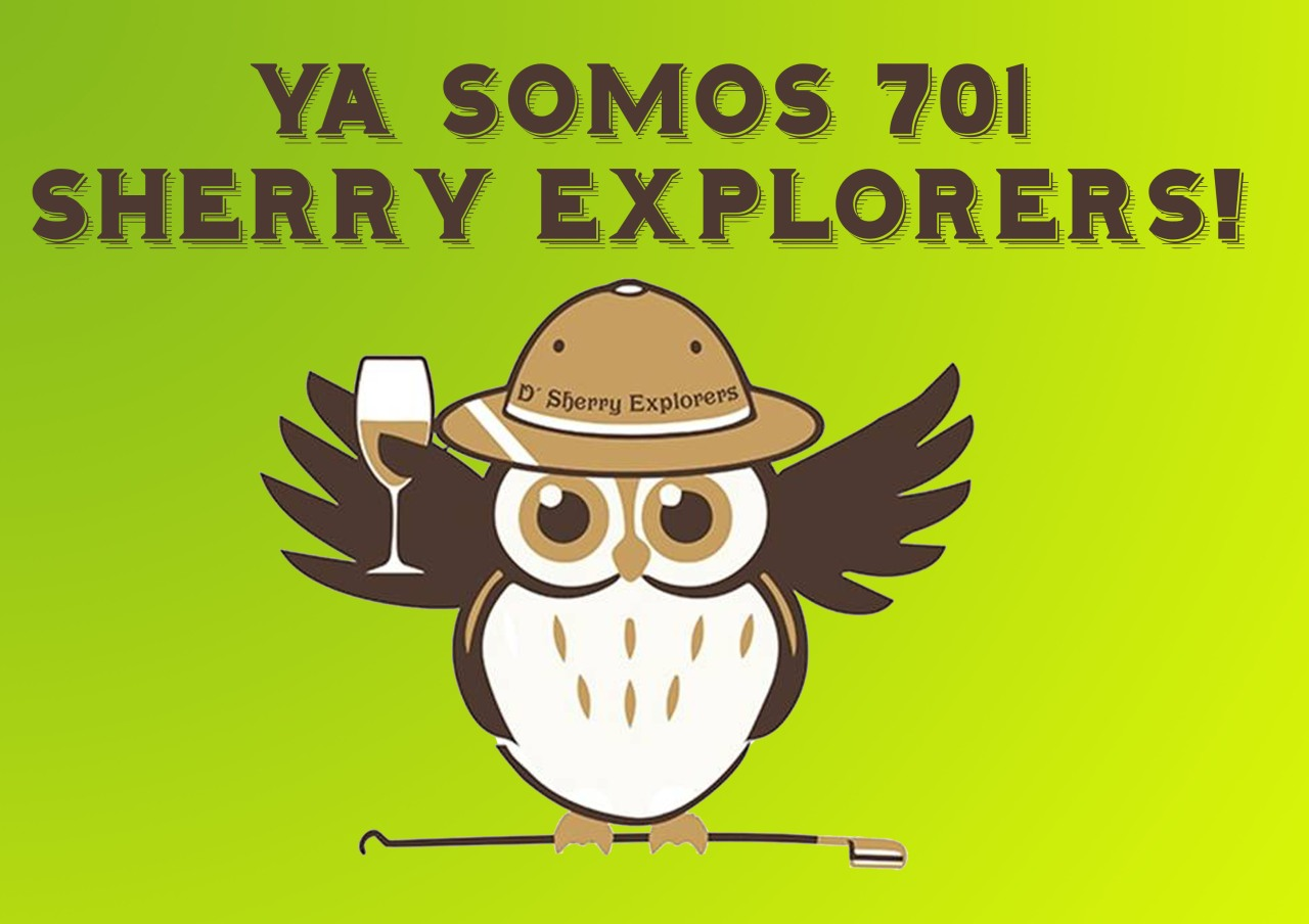 Ya somos 701 Sherry Explorers!/ We are now 701 Sherry Explorers strong!