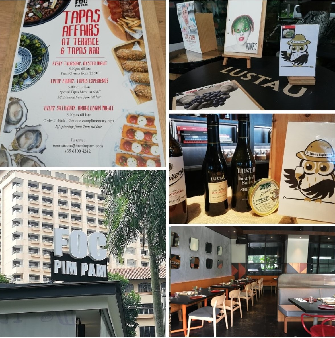 "Discover Sherry recommends: ""FOC PIM PAM"" Spanish Restaurant in Singapore"