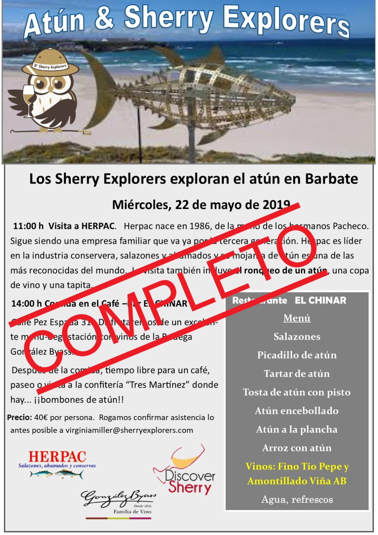 Completo: Atún y Sherry Explorers  22 demayo