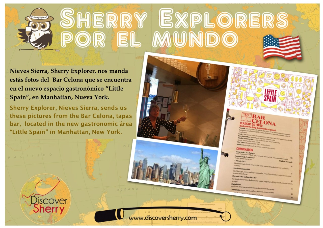 Sherry Explorers por el Mundo: Nieves Sierra in Little Spain, Nueva York