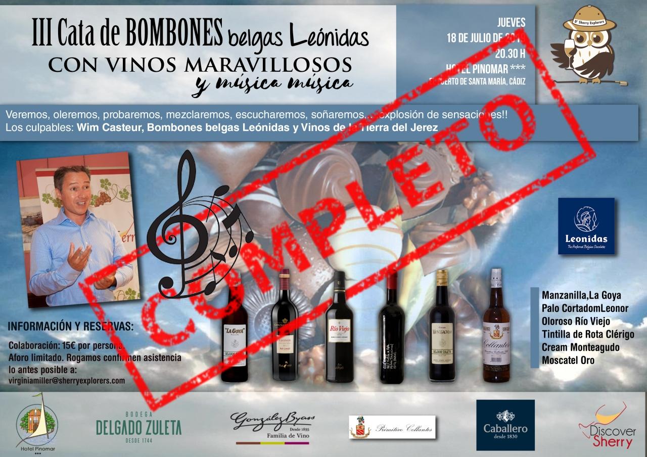 COMPLETA: Cata de Bombones Belgas y Vinosestupendos