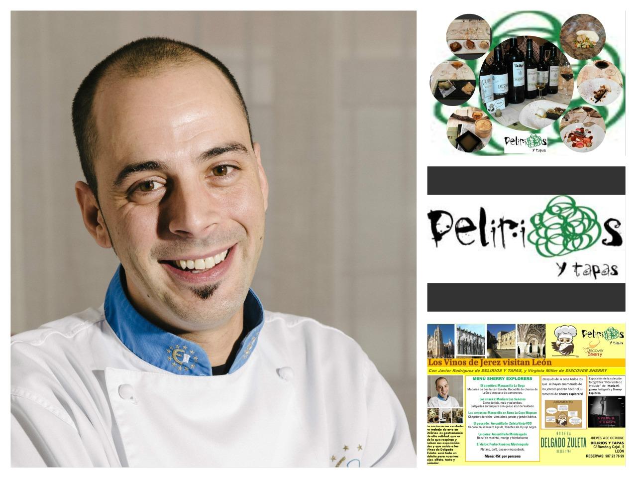 Nos visita el Chef Javier Rodriguez de DELIRIOS, León./We receive a visit from Javier Rodriguez, Chef at Delirios Restaurant inLeón.