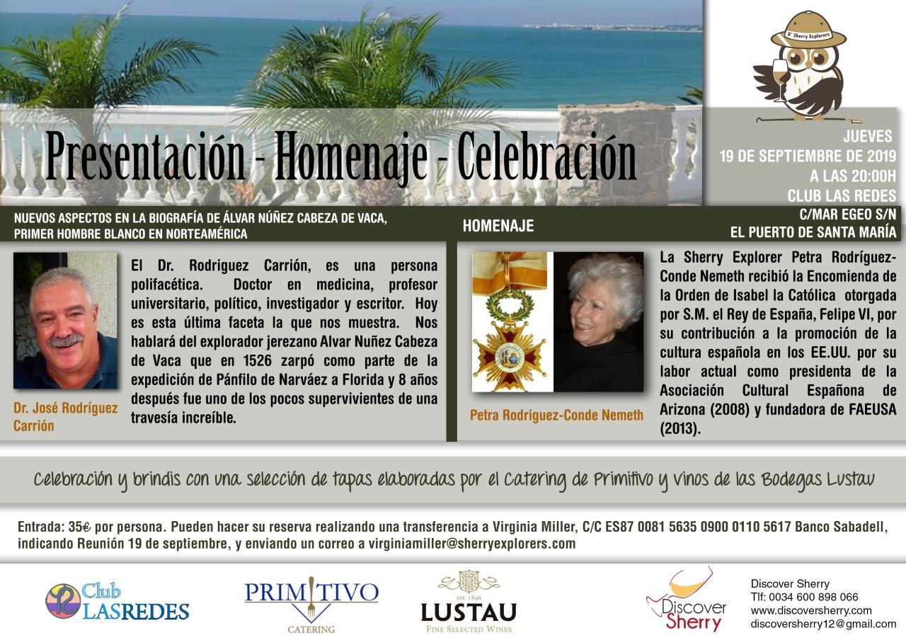 19 de Septiembre: Reunión muy especial de los Sherry Explorers(Spanish)