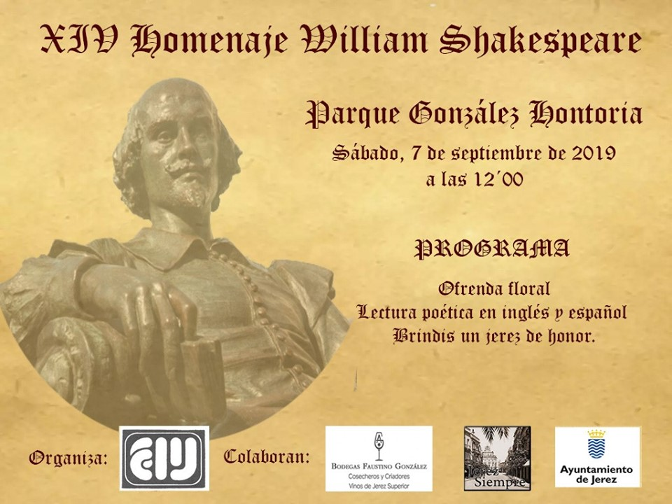 XIV Homenaje a William Shakespeare en Jerez /14th Annual Tribute to William Shakespeare in Jerez