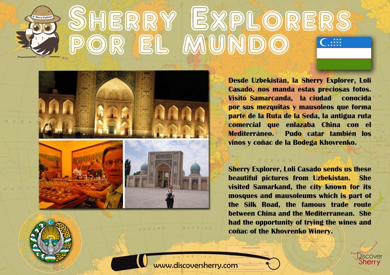 Sherry Explorer Loli Casado in Samarkand,Uzbekistan.