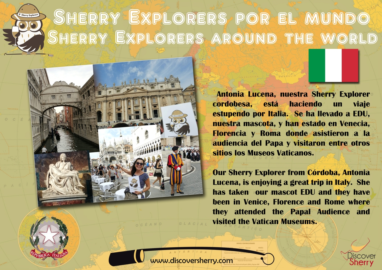 Sherry Explorers por el Mundo: Antonia y EDU en Italia, inItaly!