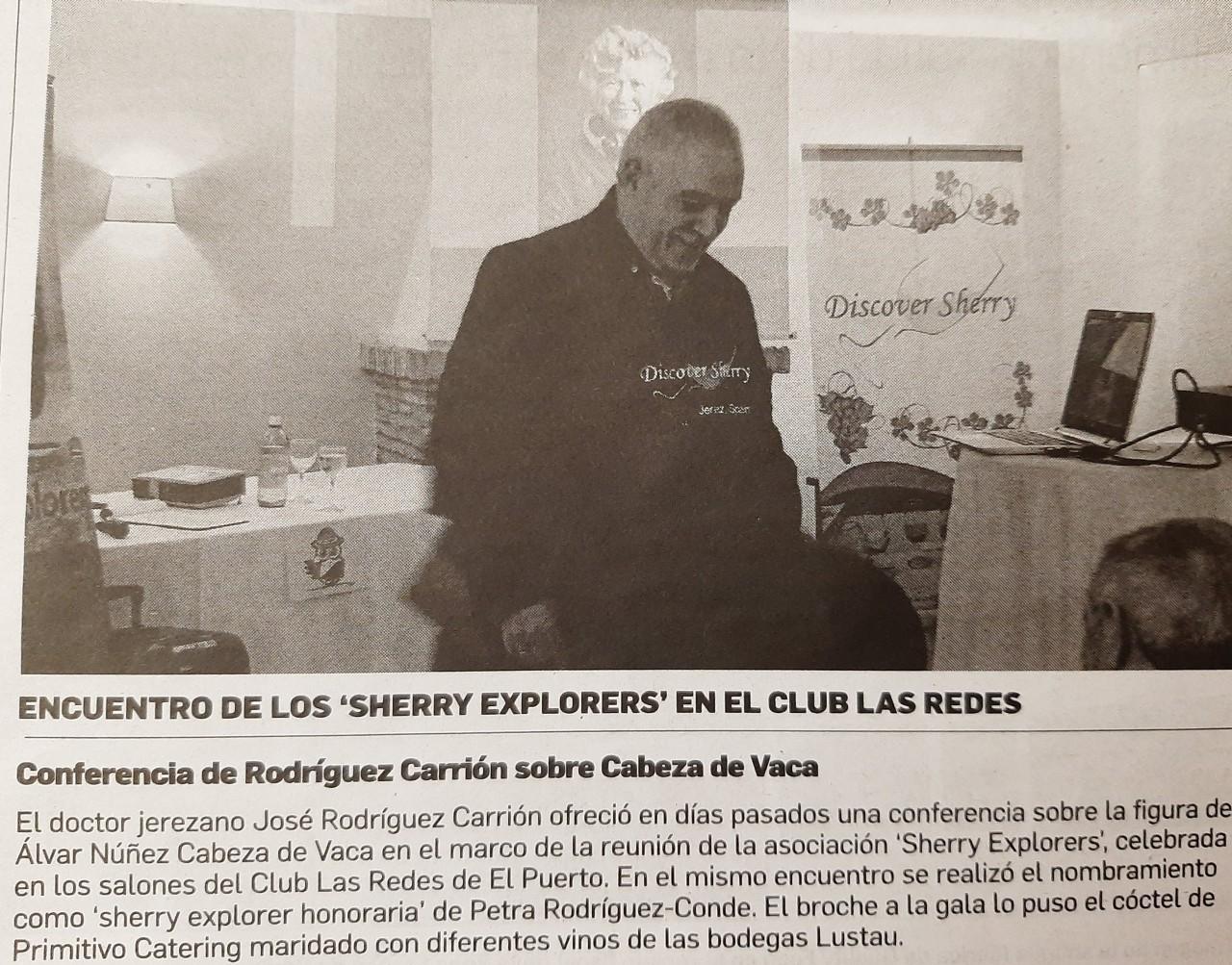 Diario de Jerez: Sherry Explorers en LasRedes