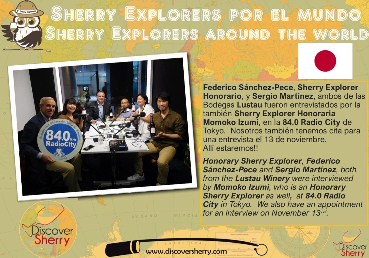 Sherry Explorers por el Mundo: Federico y Sergio entrevistados enTokyo