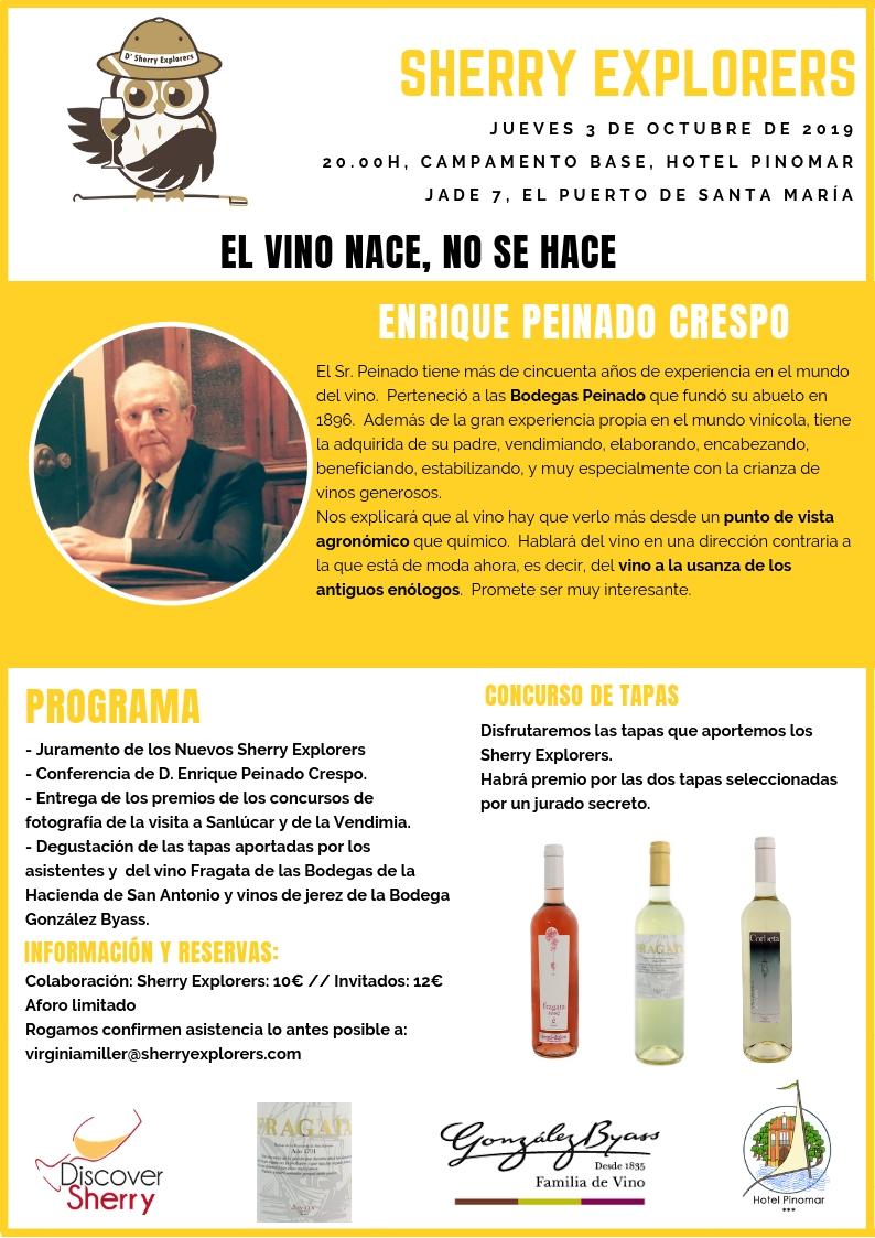 Reunión Sherry Explorers: Enrique PeinadoCrespo