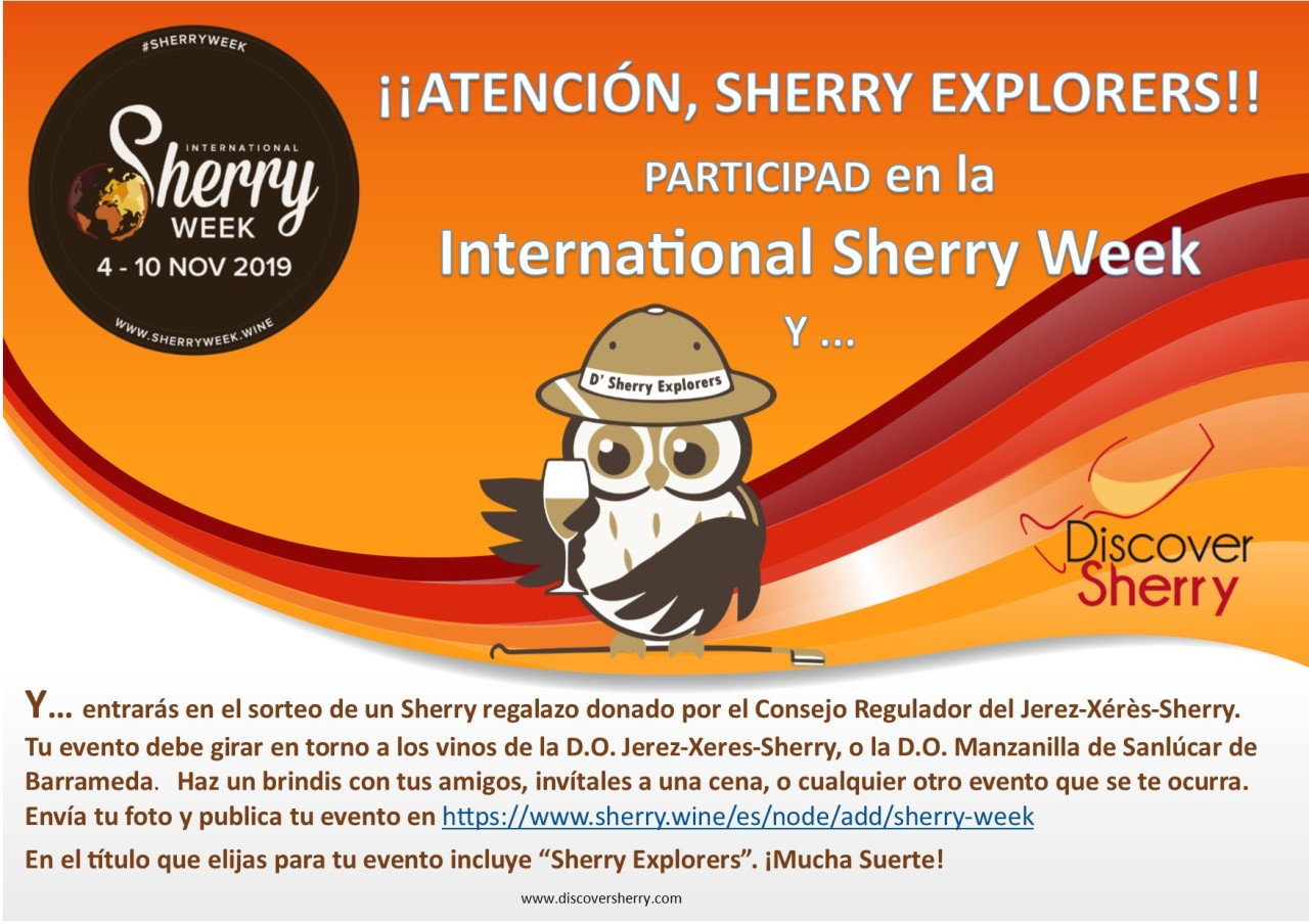 Ya falta muy poco para la International Sherry Week: vamos a participar!!  International Sherry Week is coming soon, Let´s participate!!
