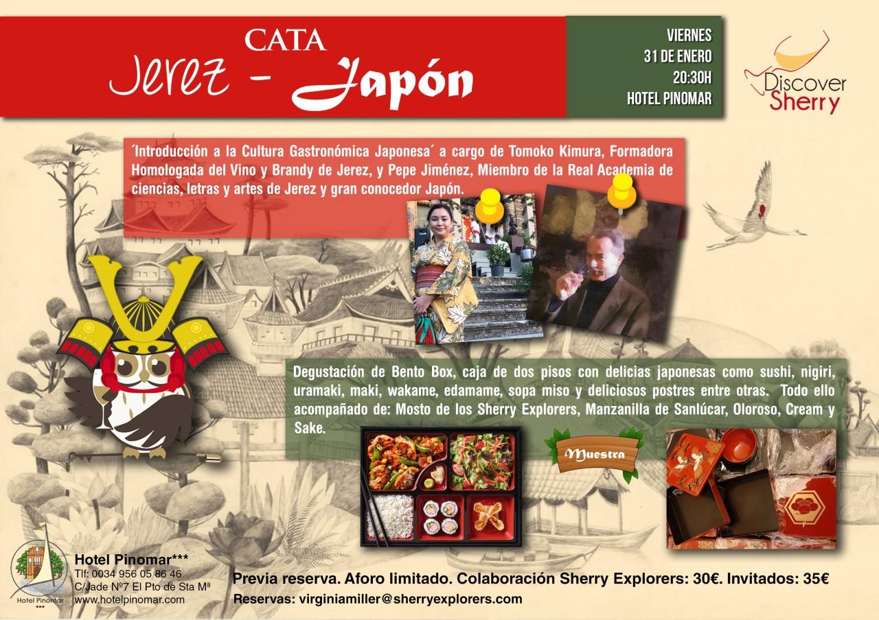 JEREZ-JAPÓN Cata maridada Sherry Explorers-Discover Sherry