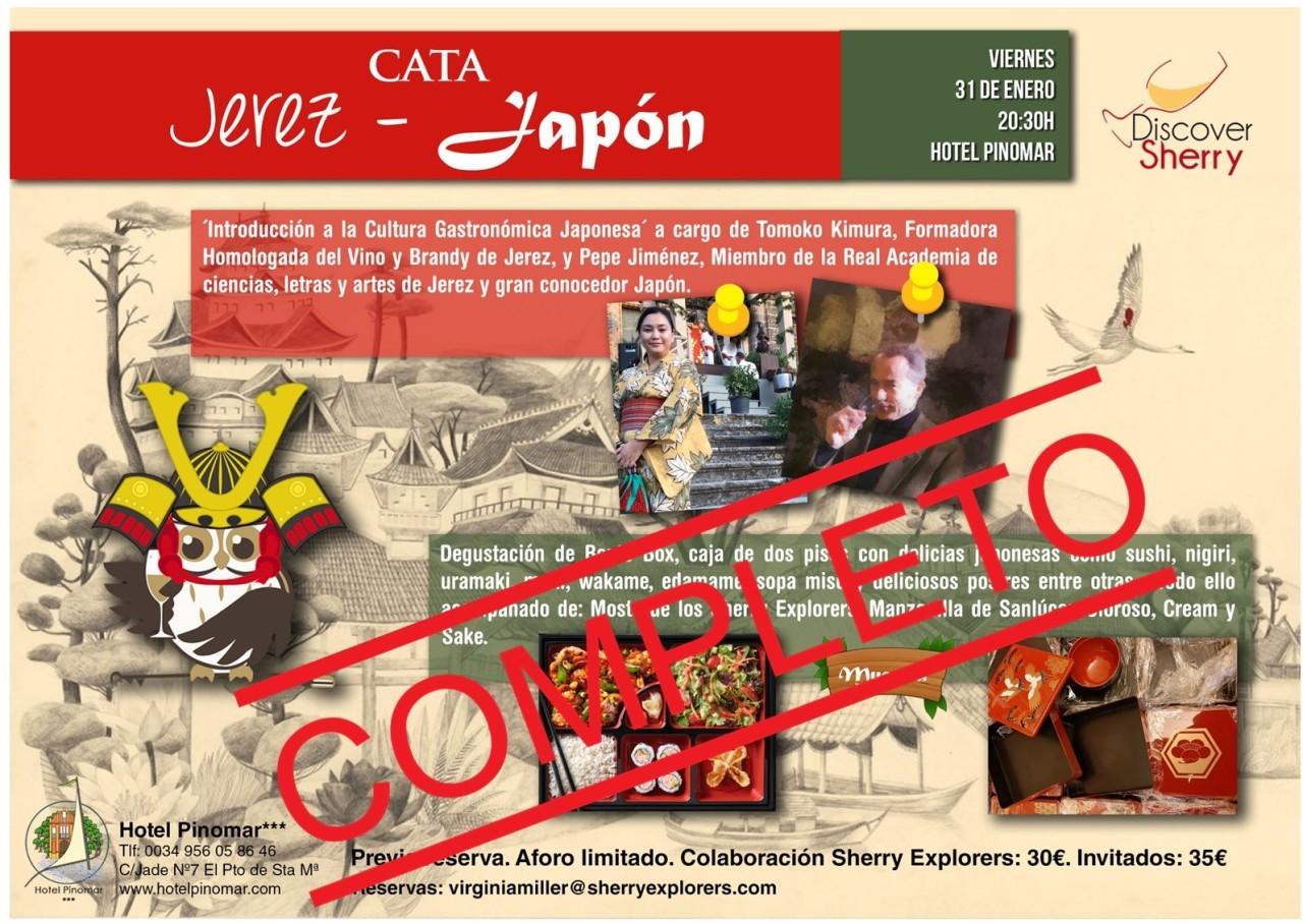 COMPLETA la Cata JEREZ-JAPÓN, 31 de enero de2020