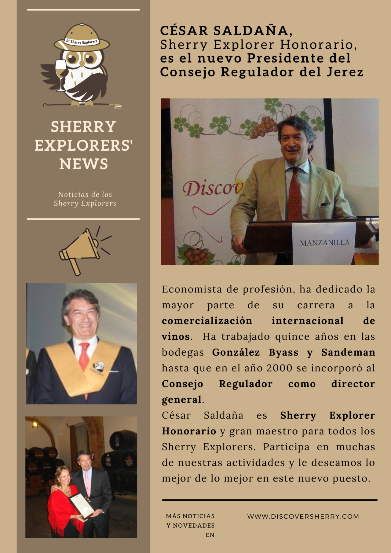 Sherry Explorers´ News: César Saldaña