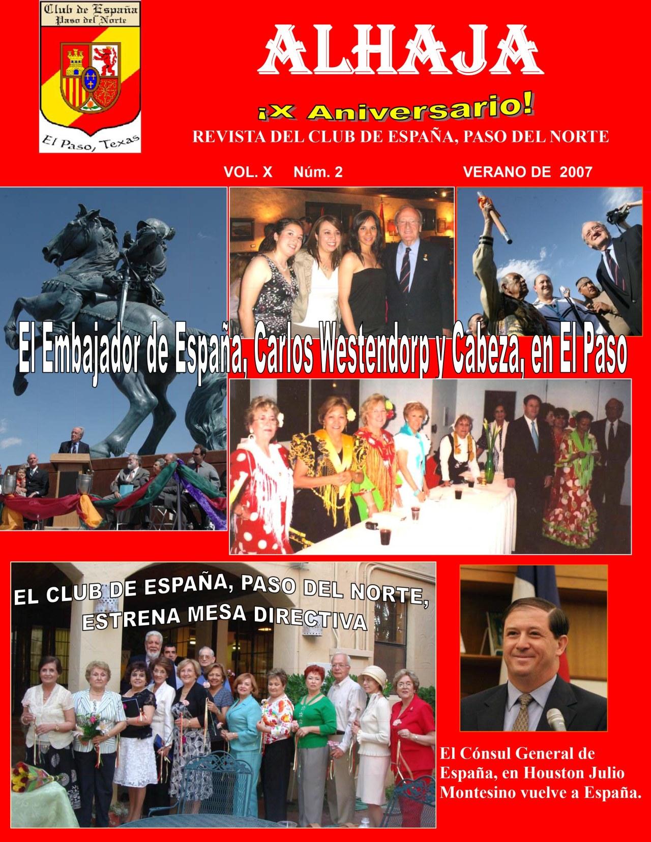 ¡ALHAJA X Aniversario! Revista del Club de España, Paso del Norte(Spanish)