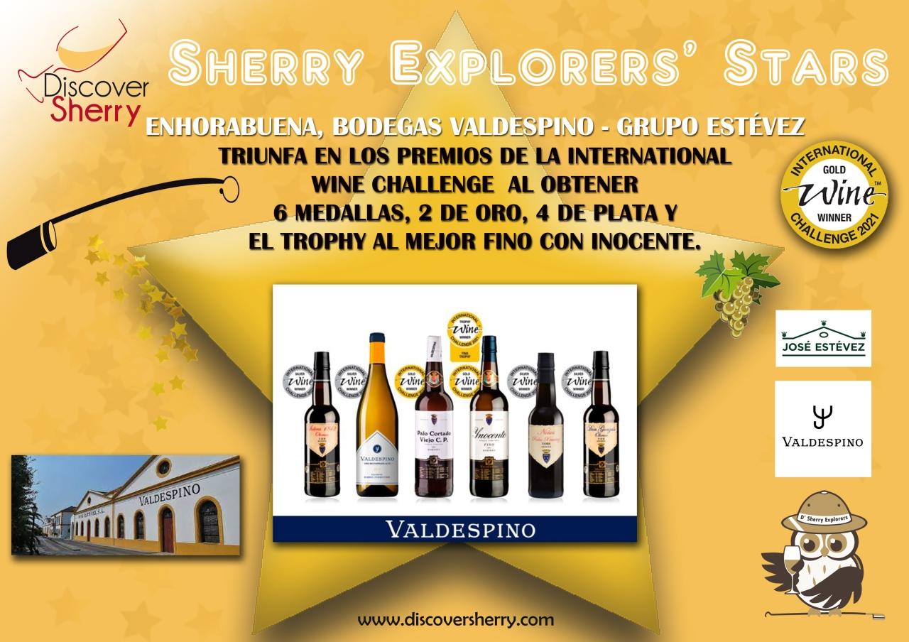 Sherry Explorers' Stars: Bodegas Valdespino, International WineChallenge