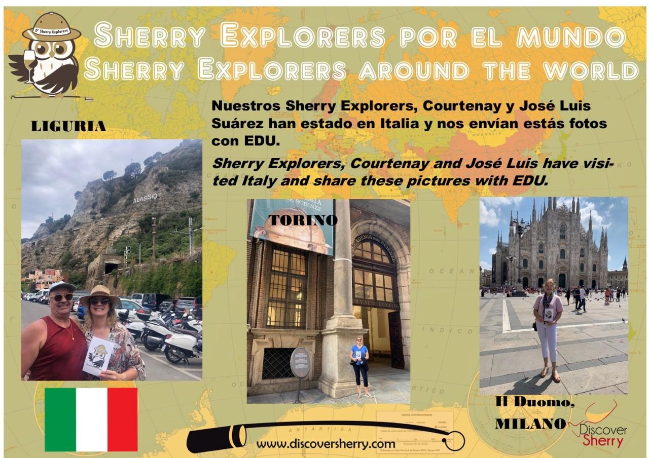 Sherry Explorers por el Mundo: Courtenay y José Luis enItalia