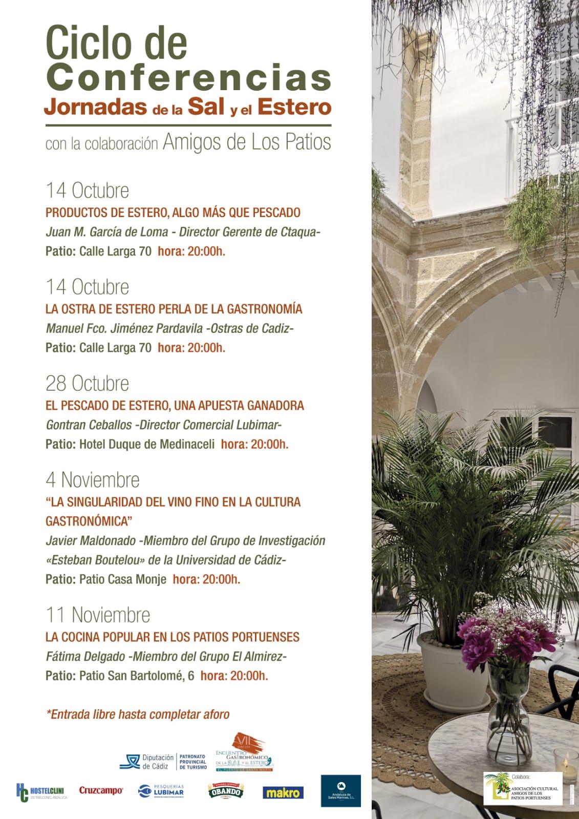 Discover Sherry recommends: Ciclo de Conferencias, Jornadas de la Sal y elEstero