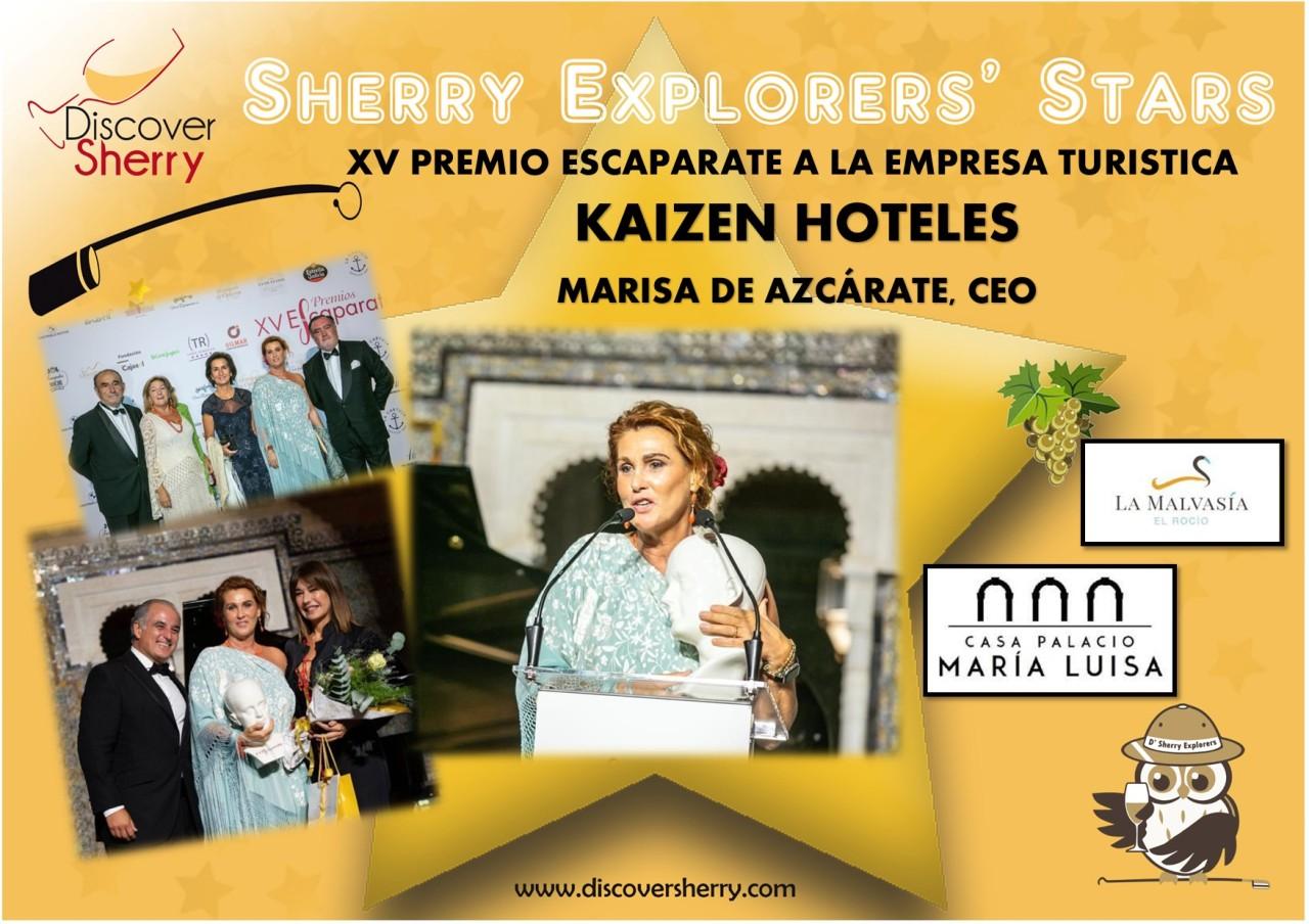 Sherry Explorers' Stars: XV Premio Escaparate a la Empresa Turística: KAIZENHOTELES
