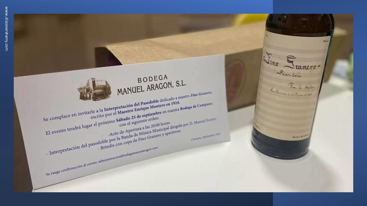 """Presentación del pasodoble """"Fino Granero"""" en las Bodegas Manuel Aragón Campano,Chiclana"""